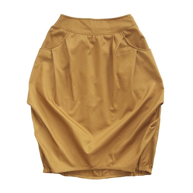 Взрослая юбка жёлто-горчичная