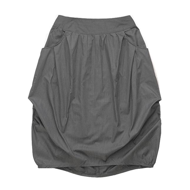 Взрослая юбка тёмно-серая меланж