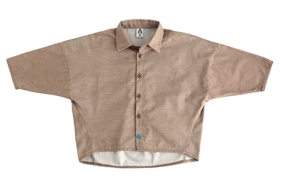 Рубашка унисекс коричневая