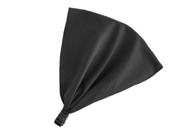 Косынка на резинке чёрная