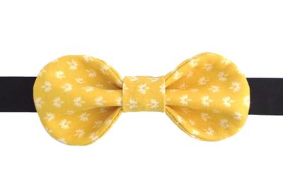 Галстук-бабочка для девочек жёлтая