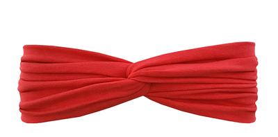 Трикотажная повязка перекрученная красная
