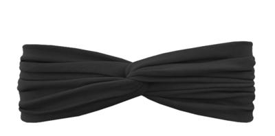 Трикотажная повязка перекрученная черная