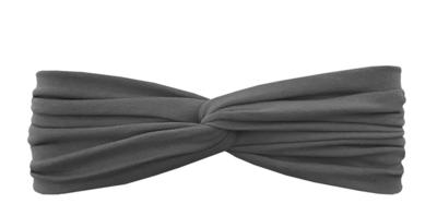 Трикотажная повязка перекрученная темно-серая (антрацит)