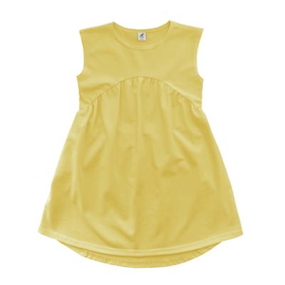 Трикотажное платье нежно-желтое