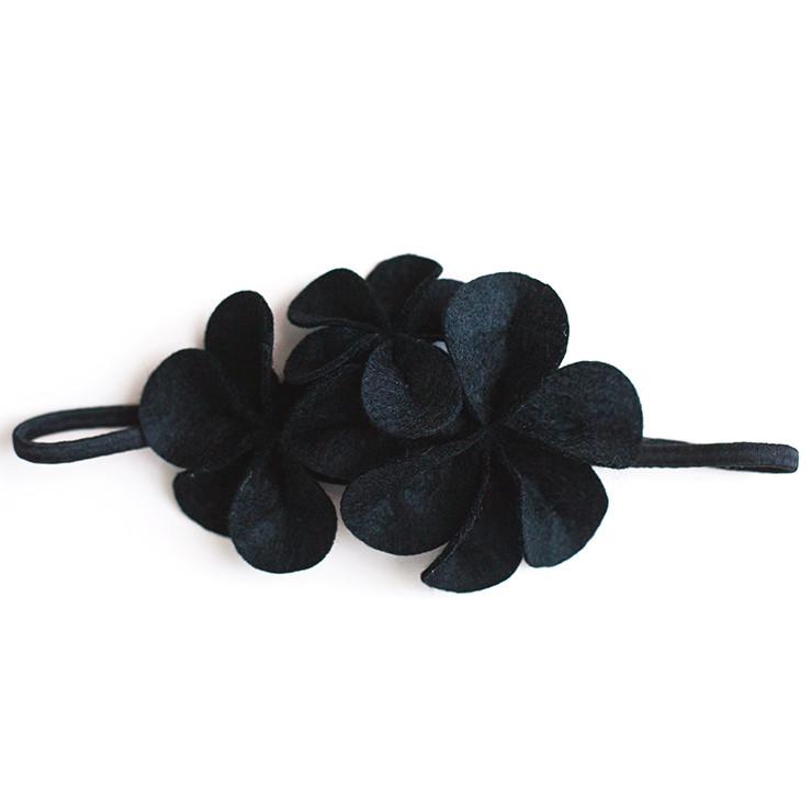 Фетровое украшение — чёрное