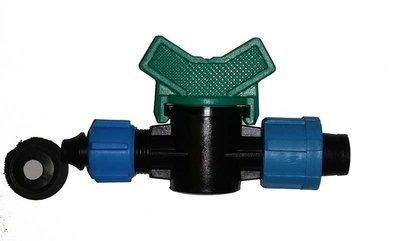 Кран коннектор с резиновым уплотнителем для капельной ленты