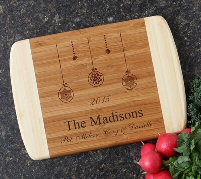 Personalized Cutting Board Custom Engraved Bamboo Cutting Board 11 x 8 HOLIDAY