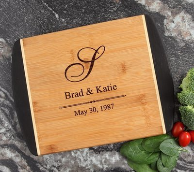 Cutting Board Engraved Personalized Bamboo 12 x 9 DESIGN 11