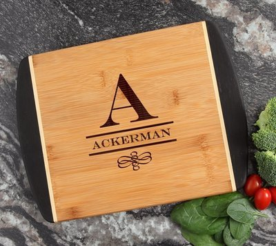 Cutting Board Engraved Personalized Bamboo 12 x 9 DESIGN 12