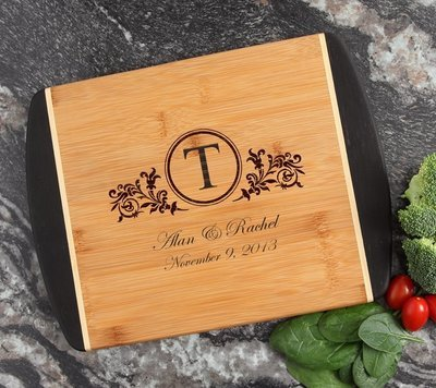 Cutting Board Engraved Personalized Bamboo 12 x 9 DESIGN 15