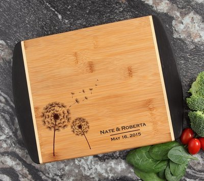 Cutting Board Engraved Personalized Bamboo 12 x 9 DESIGN 28