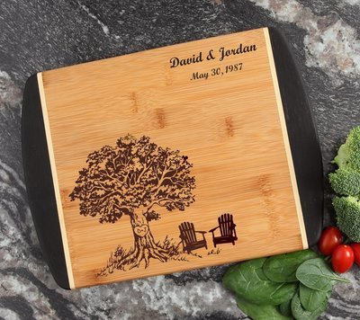 Cutting Board Engraved Personalized Bamboo 12 x 9 DESIGN 31