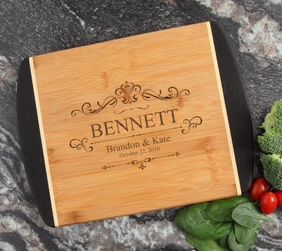 Cutting Board Engraved Personalized Bamboo 12 x 9 DESIGN 35