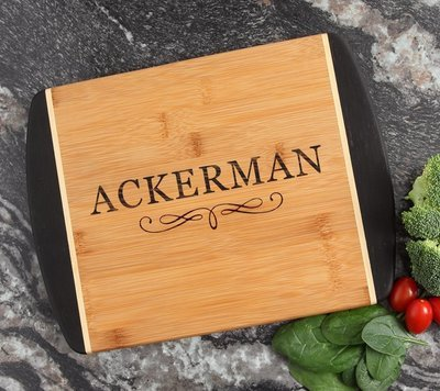 Cutting Board Engraved Personalized Bamboo 12 x 9 DESIGN 8
