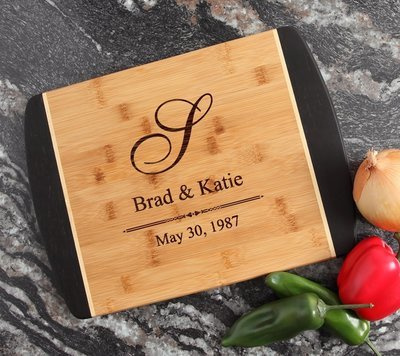 Engraved Cutting Board Personalized Bamboo 15 x 11 DESIGN 11