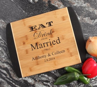 Engraved Cutting Board Personalized Bamboo 15 x 11 DESIGN 17