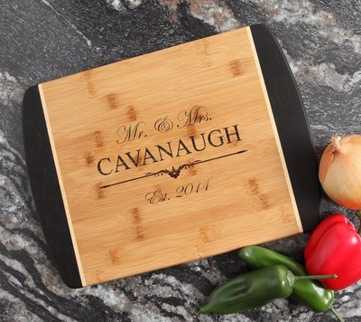 Engraved Cutting Board Personalized Bamboo 15 x 11 DESIGN 19