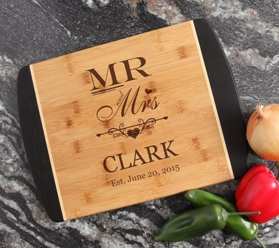 Engraved Cutting Board Personalized Bamboo 15 x 11 DESIGN 21
