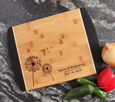Engraved Cutting Board Personalized Bamboo 15 x 11 DESIGN 28