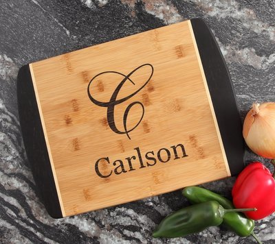 Engraved Cutting Board Personalized Bamboo 15 x 11 DESIGN 3