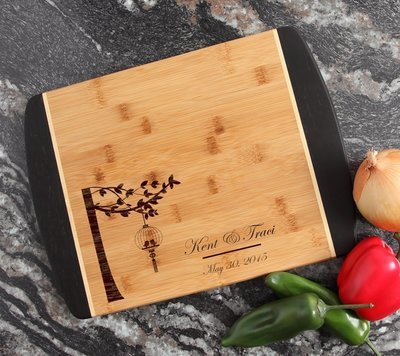 Engraved Cutting Board Personalized Bamboo 15 x 11 DESIGN 32