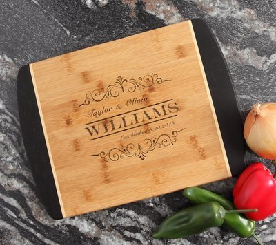 Engraved Cutting Board Personalized Bamboo 15 x 11 DESIGN 34