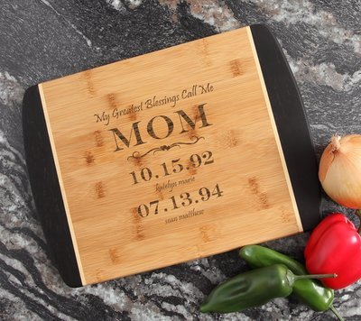 Engraved Cutting Board Personalized Bamboo 15 x 11 DESIGN 38
