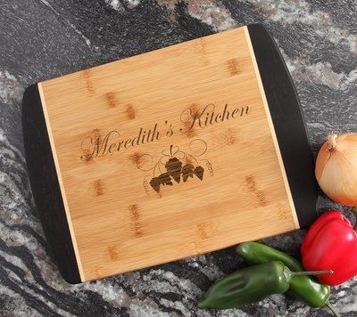 Engraved Cutting Board Personalized Bamboo 15 x 11 DESIGN 40