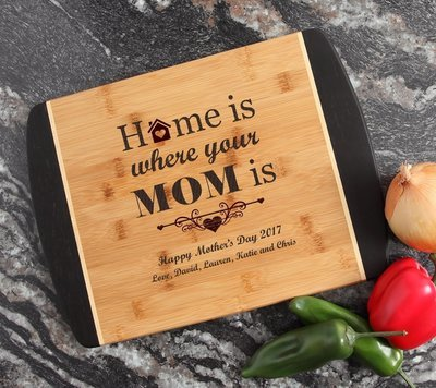 Engraved Cutting Board Personalized Bamboo 15 x 11 DESIGN 42