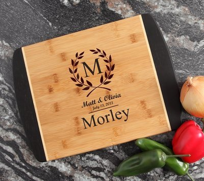 Engraved Cutting Board Personalized Bamboo 15 x 11 DESIGN 6