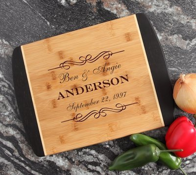 Engraved Cutting Board Personalized Bamboo 15 x 11 DESIGN 9