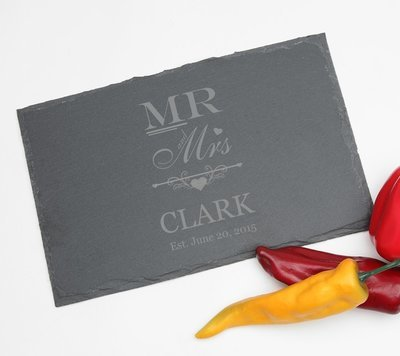Personalized Slate Cheese Board 11 x 7 DESIGN 21