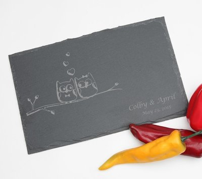 Personalized Slate Cheese Board 11 x 7 DESIGN 29