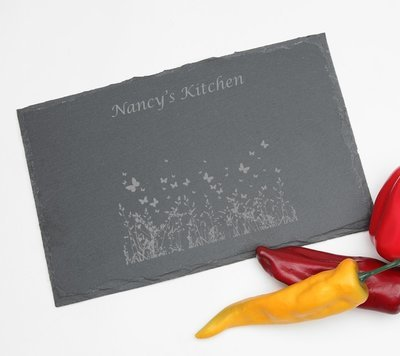 Personalized Slate Cheese Board 11 x 7 DESIGN 30
