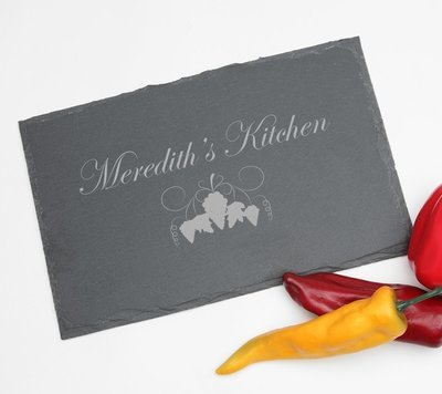 Personalized Slate Cheese Board 11 x 7 DESIGN 40