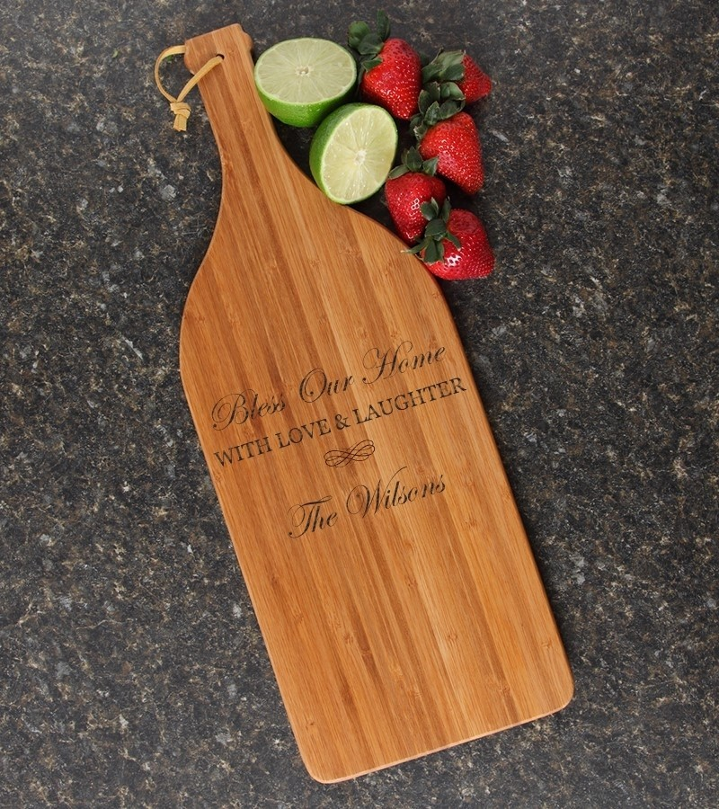 Personalized Cutting Board Engraved Bamboo 16 X 5 Design 22 Personalized Bamboo Cutting Board 14 X 11