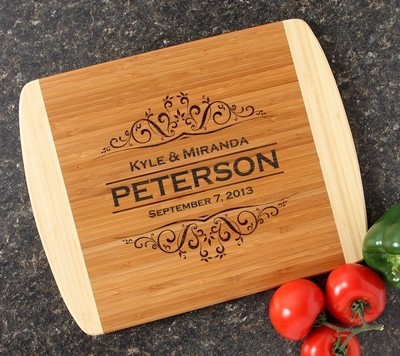 Personalized Cutting Board Custom Engraved 14x11 DESIGN 7