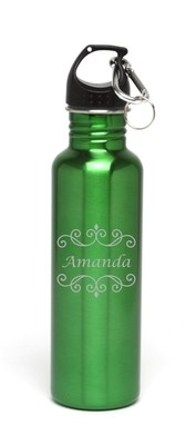 Personalized Water Bottle Stainless Steel Water Bottle Name Design A