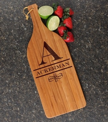Personalized Cutting Board Engraved Bamboo 16 x 5 DESIGN 12