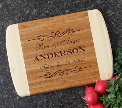 Personalized Cutting Board Custom Engraved 10 x 7 DESIGN 9