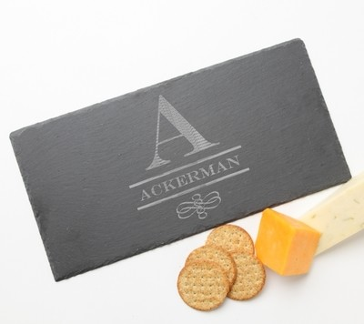 Personalized Slate Cheese Board 15 x 7 DESIGN 12