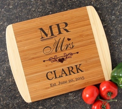 Personalized Cutting Board Custom Engraved 14x11 DESIGN 21