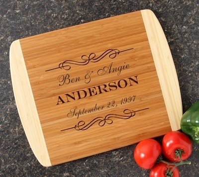 Personalized Cutting Board Custom Engraved 14x11 DESIGN 9