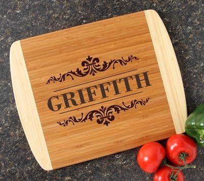 Personalized Cutting Board Custom Engraved 14x11 DESIGN 16