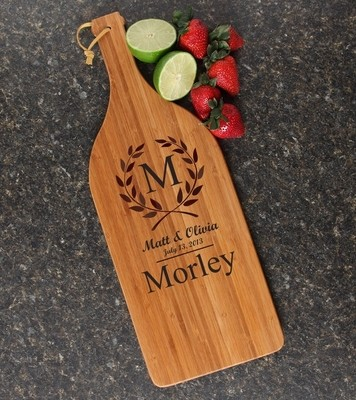 Personalized Cutting Board Engraved Bamboo 16 x 5 DESIGN 6