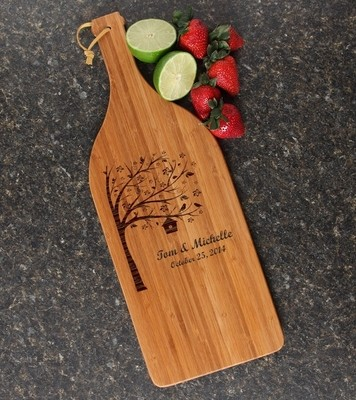 Personalized Cutting Board Engraved Bamboo 16 x 5 DESIGN 27