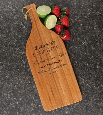 Personalized Cutting Board Engraved Bamboo 16 x 5 DESIGN 26
