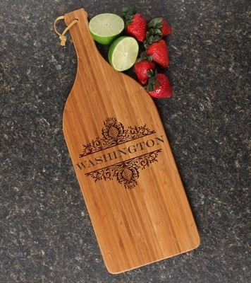 Personalized Cutting Board Engraved Bamboo 16 x 5 DESIGN 36