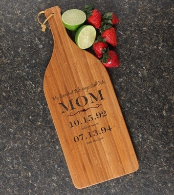 Personalized Cutting Board Engraved Bamboo 16 x 5 DESIGN 38